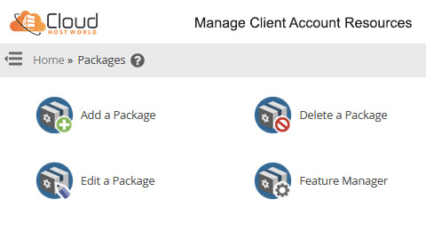 Manage Client Account Resources